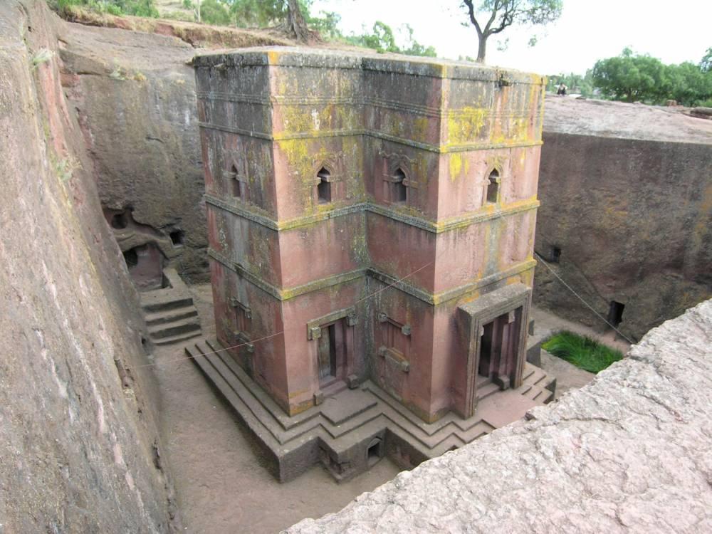 Une des églises taillées dans la roche à Lalibela. © Francesco Bandarin Francesco Bandarin/UNESCO