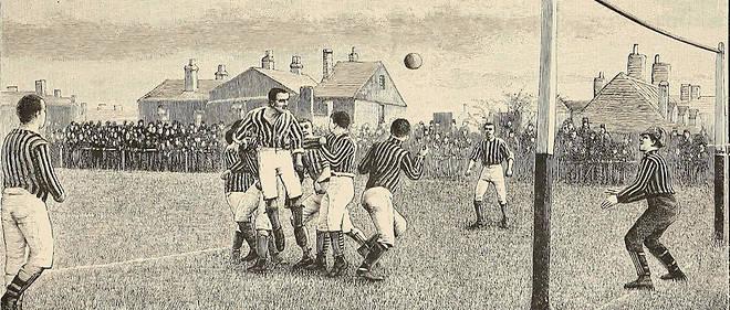 Gravure de 1894. Ebenezer Cobb Morley intègre la fédération anglaise de football, créée en 1863, et en devient le secrétaire général.