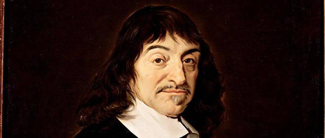"""""""Portrait de René Descartes (1596-1650) philosophe"""". Peinture d'après Frans Hals (l'Ancien) (1581/1585-1666) XVII siecle."""