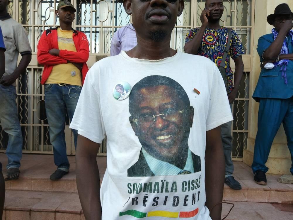 Les partisans du candidat de l'opposition sont venus exiger une modification des résultats officiels. ©  Olivier Dubois