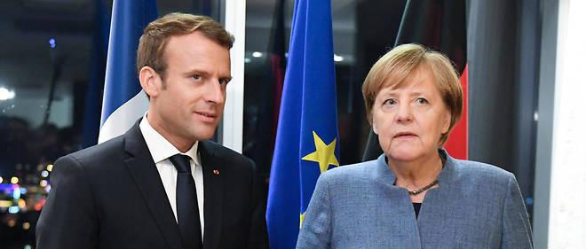 Emmanuel Macron et Angela Merkel lors d'un sommet européen à Tallin (Estonie), le 28 septembre 2017.