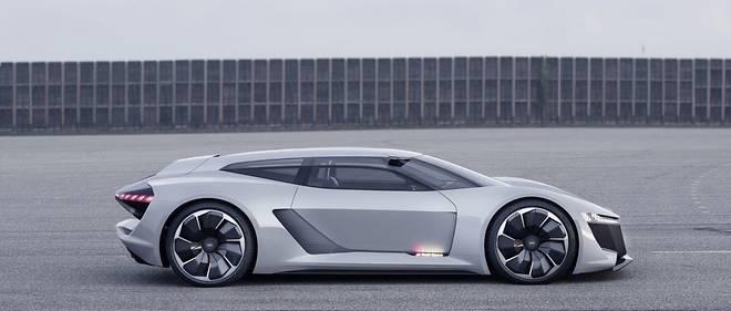 Le concept PB 18 e-tron utilise des projecteurs laser pour ses feux de route, comme la R18 des 24 Heures du Mans.