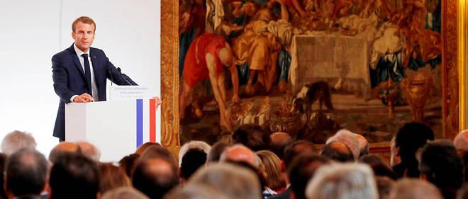 Le président a détaillé sa feuille de route diplomatique lors de son discours aux ambassadeurs, à l'Élysée, le 27 août.