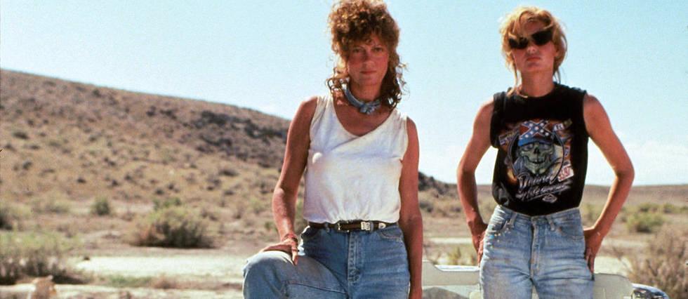 <p>Susan Sarandon et Geena Davis dans « Thelma et Louise» de Ridley Scott</p>
