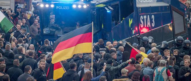 Samedi soir, 18 personnes ont été blessées en marge des manifestations à Chemnitz.