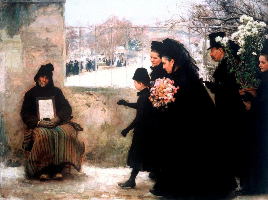 «La Toussaint». 1888, huile sur toile.