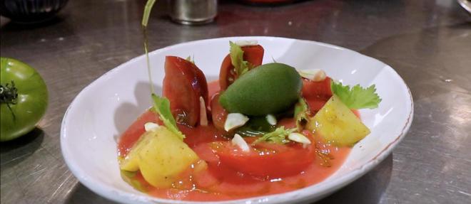 La salade de tomates façon Bloody Mary de Jean-François Piège