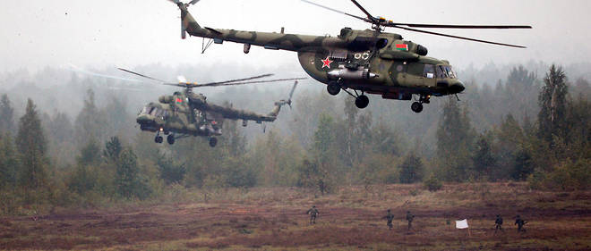 Des helicopteres Mi-8 lors de l'exercice Zapad 2017. Photo d'illustration.