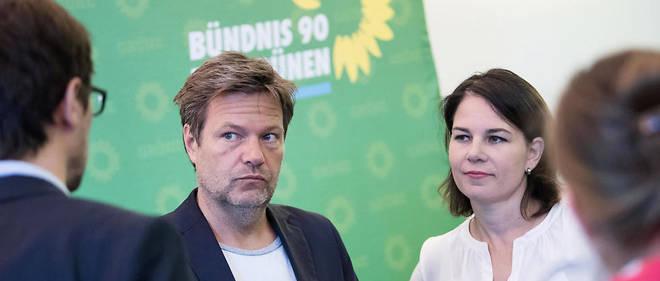 Les deux dirigeants des Verts Annalena Baerbock et Robert Habeck.
