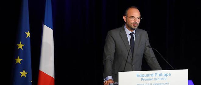Le Premier ministre Édouard Philippe lors de son discours devant les élus LREM à Tours, le 11 septembre 2018.