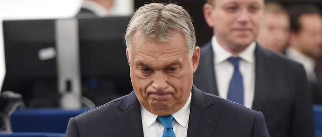 Viktor Orbán a donné rendez-vous à ses détracteurs, Emmanuel Macron en tête, en mai 2019.