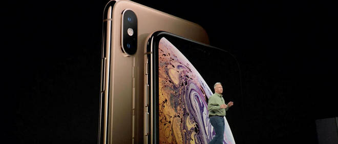 Apple a présenté trois nouveaux modèles d'iPhone, dont celui-ci, l'iPhone XS Max.