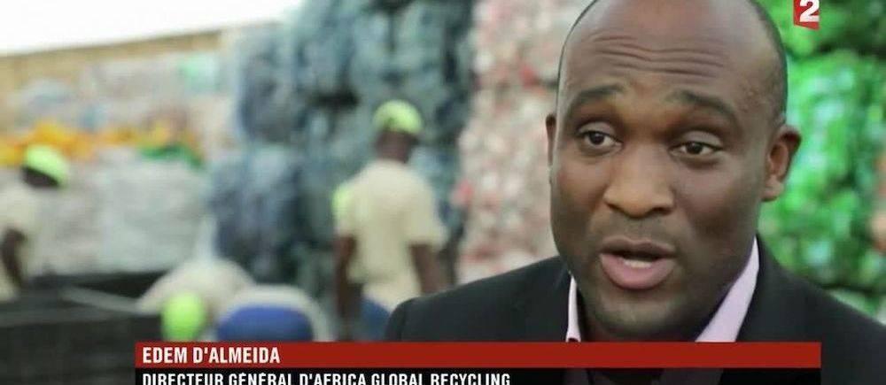 Edem d'Almeida dans un reportage de France 2, la chaîne publique française. ©  DR