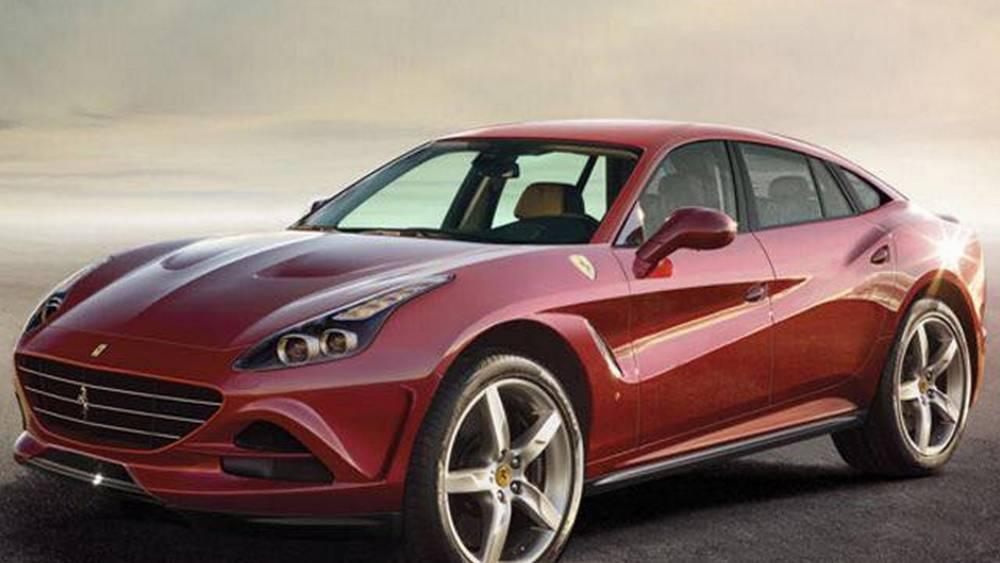 Les élucubrations d'artiste pour le SUV Ferrari Purosangue sont assee peu convaincantes ©  DR