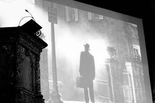 Une vue de l'église pendant la projection de « L'Exorciste»