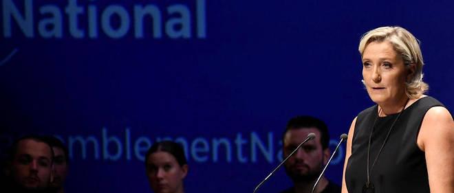 La présidente du Rassemblement national, ex-FN, lors de sa rentrée à Fréjus, le 16 septembre dernier.