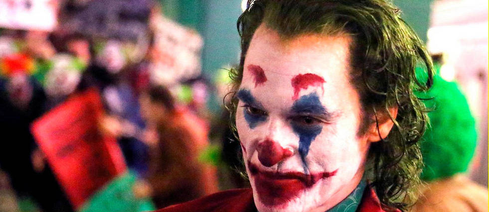 <p>Joaquin Phoenix sur le tournage de « Joker ».</p>