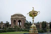 Le trophée de la Ryder Cup, ici exposé début septembre à San Francisco.  ©Karl Nielsen