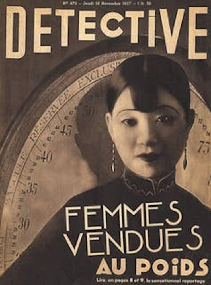 Femmes vendues au poids, couverture du magazine Détective, n° 473, novembre 1937. ©  Sexe, race et colonies