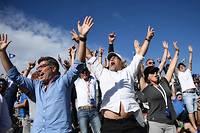 L'enthousiasme des supporteurs présents à la Ryder Cup (golf) lors du troisième et dernier jour de compétition. ©FRANCK FIFE