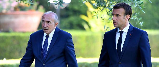 Emmanuel Macron et Gérard Collomb le 26 juin 2018 lors d'une visite au Vatican.