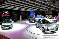 GAC a amené à Paris une gamme avec des Suv dont le nouveau GS5, une berline électrique et un concept futuriste Energe  ©CuiHao