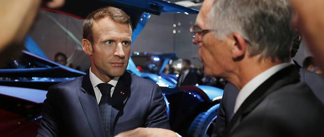 Au Mondial, Carlos Tavares (PSA) tente d'expliquer à Emmanuel Macron l'impact des mesures sur le CO2