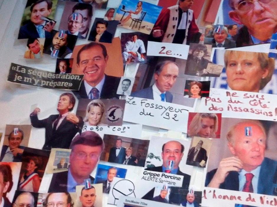Epinglés. Ils sont une cinquantaine, dont une dizaine de politiques de droite, à avoir été placardés au Syndicat de la magistrature. Un mur révélé par le journaliste de France3Clément Weill-Raynal en 2013.