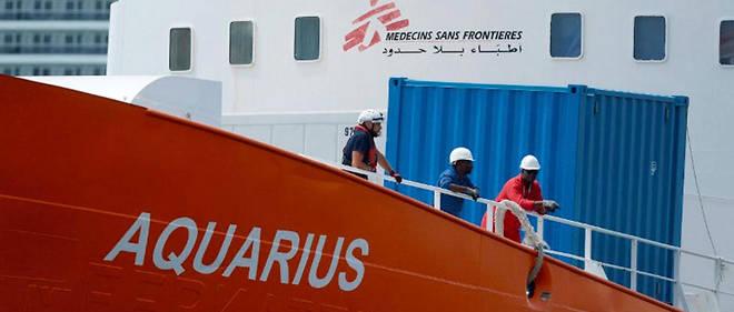 Après Malte, l'Aquarius est désormais à Marseille.