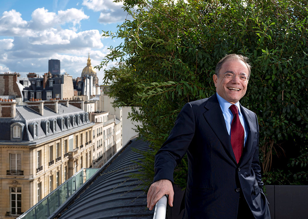 A la barre. Jean-Charles Naouri au siège social de Casino, à Paris, le 30septembre.