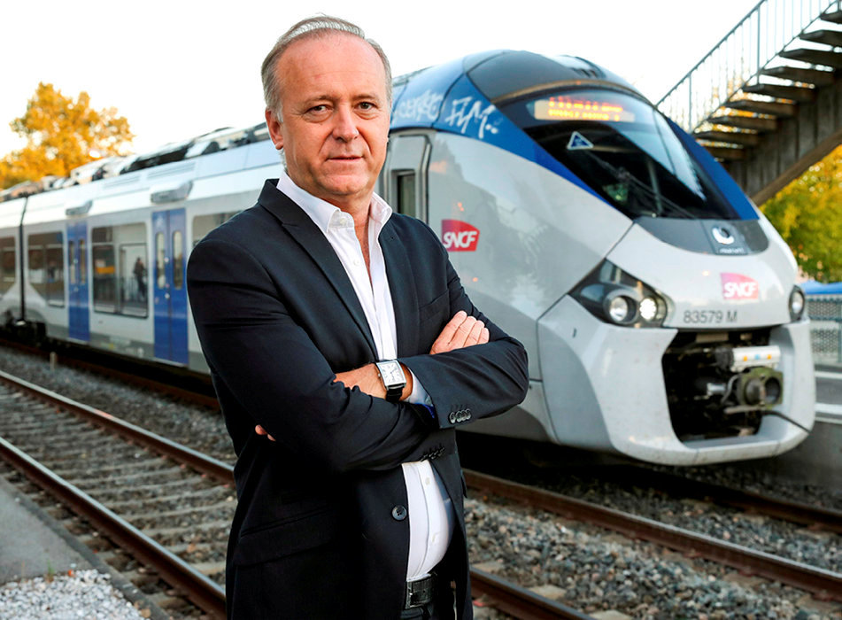 Audacieux. Marc Péré, maire (DVG) de L'Union, ici à la gare SNCF de Montrabe, a présenté un projet de six nouvelles lignes de TER.