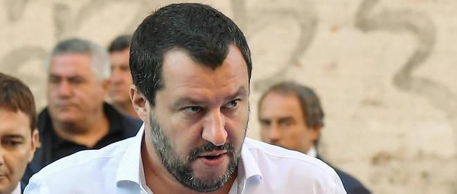 Le virulent ministre d'Intérieur italien d'extrême droite, Matteo Salvini.
