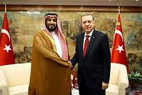Recep Tayyip Erdogan accentue jour après jour la pression sur le prince tout-puissant d'Arabie saoudite, Mohammed Ben Salmane, après le scandale de la mort du journaliste Jamal Khashoggi.  ©KAYHAN OZER