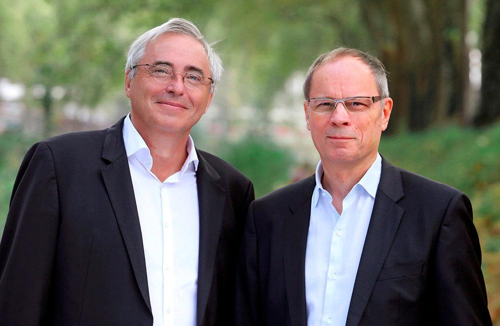 Christian Gollier et Jean Tirole, économistes à la Toulouse School of Economics