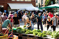 La marché de Bergerac, en Dordogne.