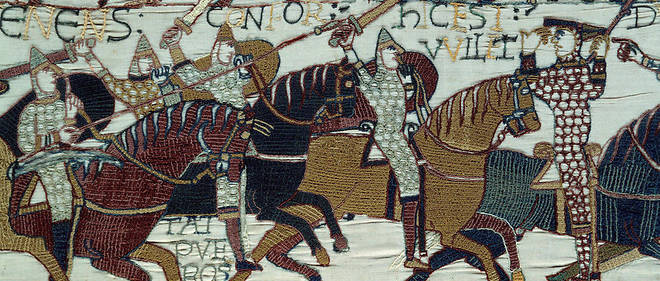 Détail de la tapisserie de Bayeux, (1077).