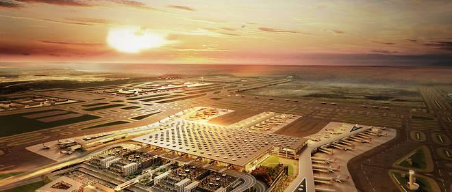 En 2019, le nouvel aéroport d'Istanbul devrait accueillir 90 millions de passagers par an.