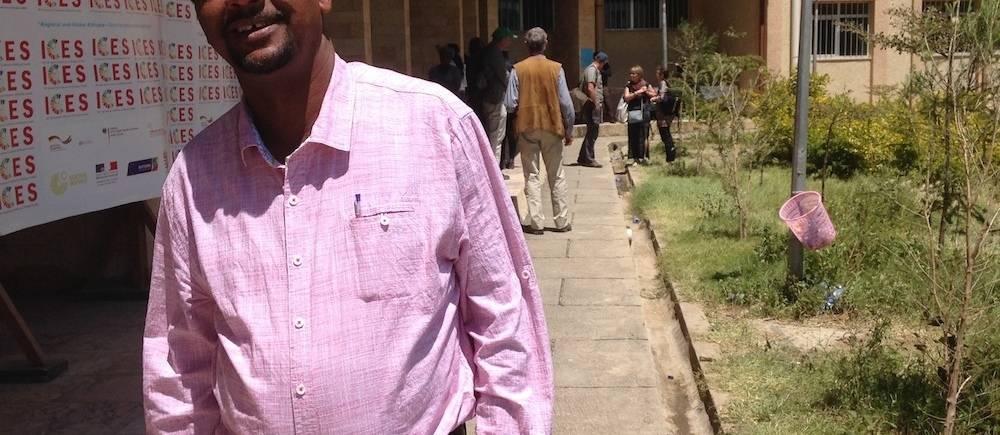 Ephrem Amare, directeur du musée national d'Addis-Abeba. ©  Nathalie Tissot
