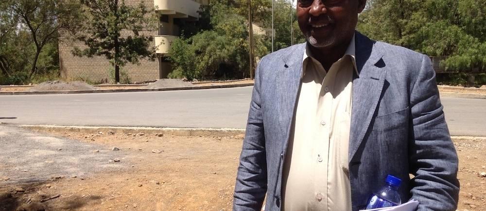 Mohamed Zakaria, conservateur en chef à l'Institut des études éthiopiennes. ©  Nathalie Tissot