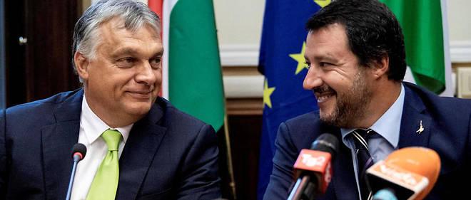 Le Premier ministre hongrois Viktor Orbán et le ministre de l'Intérieur italien Matteo Salvini.