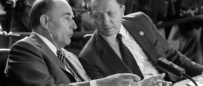 François Mitterrand avec Jacques Delors.
