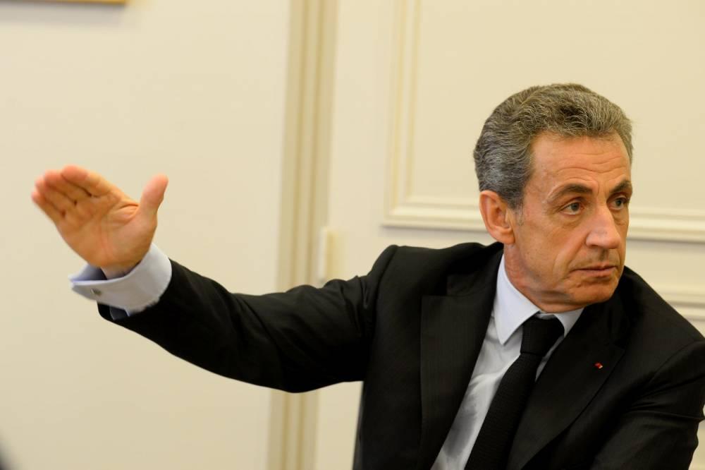"Nicolas Sarkozy dans son bureau de la rue de Miromesnil lors de l'entretien accordé au ""Point"" fin octobre 2018.  ©  Elodie Gregoire"