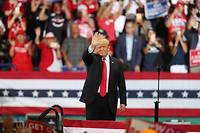 Donald Trump reprend son thème de campagne favori : la lutte contre l'immigration.  ©JOE RAEDLE