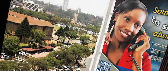 Une vue de Nairobi, au Kenya.