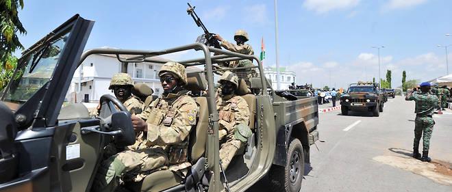 Des soldats de la Mission internationale de soutien au Mali sous conduite africaine (Misma) e mai 2013.