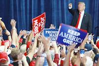 Malgré la perte de la Chambre des représentants, Donald Trump apparaît comme renforcé, notamment dans son camp.  ©Daisuke Tomita
