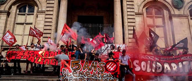 En mai, à Lyon, une manifestation antifasciste demandait la fermeture du local de Bastion social.