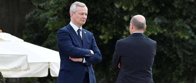 Bruno Le Maire et son homologue allemand Olaf Scholz. Ce dernier s'est contenté d'une déclaration minimale, alors que les deux hommes étaient censés avoir rapproché leur point de vue avant l'Ecofin de lundi.