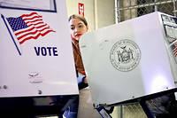Alexandria Ocasio-Cortez vote dans le Bronx. À 29 ans, la démocrate est devenue la plus jeune membre du Congrès américain.  ©Bebeto Matthews/AP/SIPA