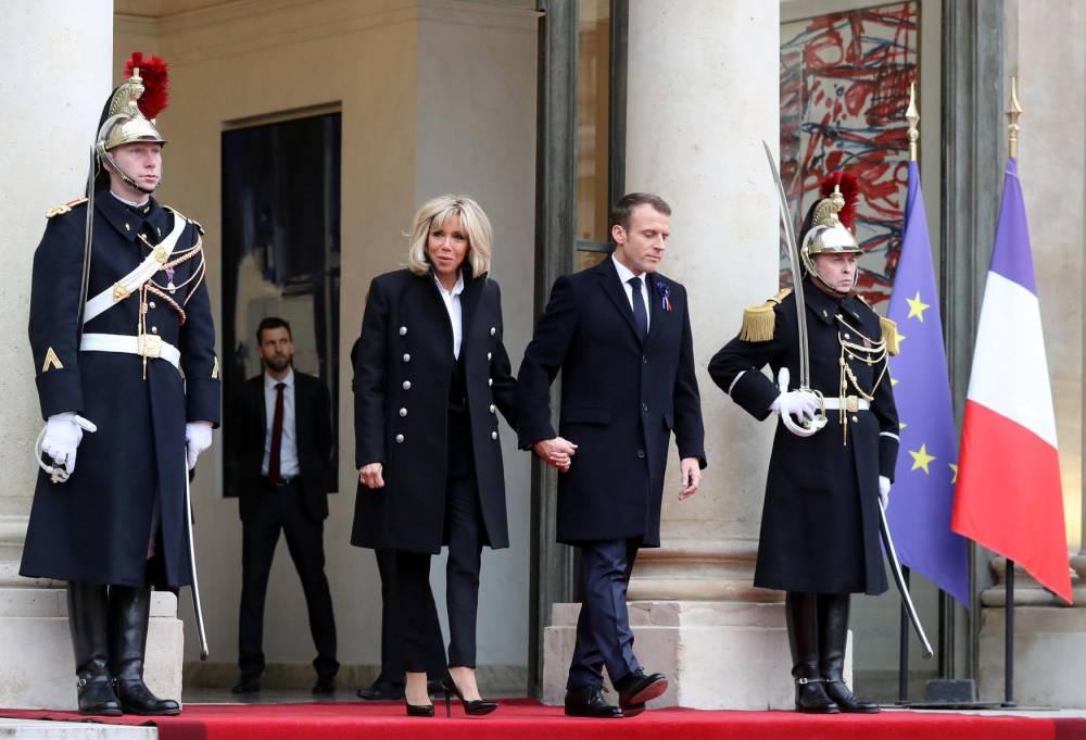 Emmanuel, brigitte, macron, réception ©  JACQUES DEMARTHON / AFP